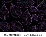 abstract colorful leaves... | Shutterstock .eps vector #1041361873