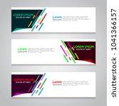 vector abstract design banner... | Shutterstock .eps vector #1041366157