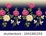 seamless floral design | Shutterstock . vector #1041381253