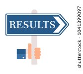 results. pointer  arrow.  | Shutterstock .eps vector #1041399097