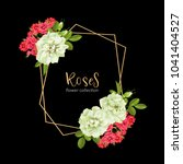 wedding invitation with wild... | Shutterstock .eps vector #1041404527