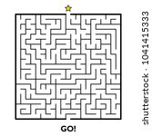 square maze puzzle isolated on... | Shutterstock .eps vector #1041415333
