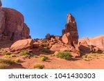 scenic drive on dirt road... | Shutterstock . vector #1041430303