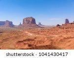 scenic drive on dirt road...   Shutterstock . vector #1041430417