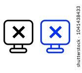 delete the monitor screen icon | Shutterstock .eps vector #1041438433