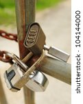 Four padlocks to give a message to keep out - stock photo