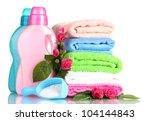 detergent with washing powder... | Shutterstock . vector #104144843