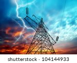 dramatic image of power...   Shutterstock . vector #104144933
