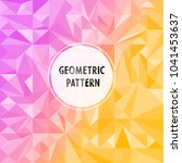 vector asymmetric pattern with... | Shutterstock .eps vector #1041453637