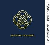 geometric emblem design...   Shutterstock .eps vector #1041478567