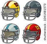 cartoon colorful american... | Shutterstock .eps vector #1041481573