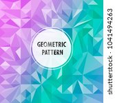vector asymmetric pattern with... | Shutterstock .eps vector #1041494263