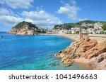 beach and village of tossa de... | Shutterstock . vector #1041496663