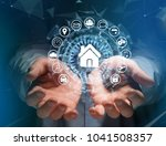 view of a home button of a... | Shutterstock . vector #1041508357