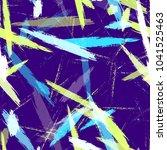 watercolor dry brush stripes in ... | Shutterstock .eps vector #1041525463