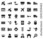 flat vector icon set   route... | Shutterstock .eps vector #1041534463