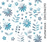 embroidery seamless pattern... | Shutterstock .eps vector #1041546193