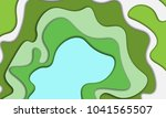 paper cut abstract background.... | Shutterstock .eps vector #1041565507