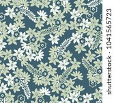 floral seamless pattern. cute... | Shutterstock .eps vector #1041565723