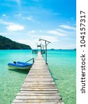 path filled with love jetty to... | Shutterstock . vector #104157317