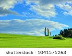 hiking in nature and enjoying... | Shutterstock . vector #1041575263