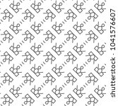 seamless geometric ornamental... | Shutterstock .eps vector #1041576607
