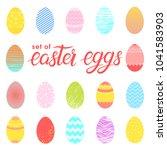 set of easter different... | Shutterstock .eps vector #1041583903