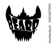 beard vector shirt design... | Shutterstock .eps vector #1041607093
