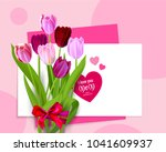 holiday mothers day floral | Shutterstock .eps vector #1041609937