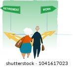 senior couple standing at the... | Shutterstock .eps vector #1041617023