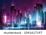 illustration of night urban...   Shutterstock . vector #1041617197