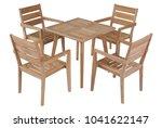 teak table garden furniture... | Shutterstock . vector #1041622147