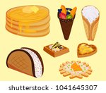 different wafer cookies waffle... | Shutterstock .eps vector #1041645307