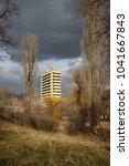 high building sanatorium in the ... | Shutterstock . vector #1041667843