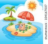 illustration of a pig sun... | Shutterstock . vector #104167037