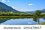 an idyllic  tranquil view of a... | Shutterstock . vector #1041678817