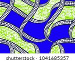 textile fashion african print... | Shutterstock .eps vector #1041685357