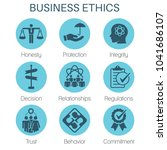 business ethics solid icon set... | Shutterstock .eps vector #1041686107