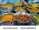 thai food at rice cookery is... | Shutterstock . vector #1041686803