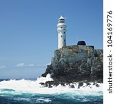 lighthouse, Fastnet Rock, County Cork, Ireland - stock photo