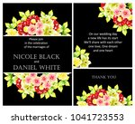 invitation with floral... | Shutterstock .eps vector #1041723553