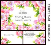 invitation with floral... | Shutterstock .eps vector #1041723583