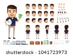 stylish businessman character... | Shutterstock .eps vector #1041723973