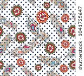 embroidery colorful simplified... | Shutterstock .eps vector #1041725647