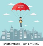 smiling business man with... | Shutterstock .eps vector #1041740257