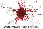 splash of red juice. 3d... | Shutterstock . vector #1041794353
