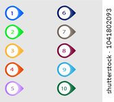 number bullet point markers 1... | Shutterstock .eps vector #1041802093
