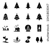 solid vector icon set  ... | Shutterstock .eps vector #1041803047