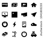 solid vector icon set   credit... | Shutterstock .eps vector #1041803233