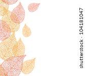 vector illustration of leaves.  ... | Shutterstock .eps vector #104181047
